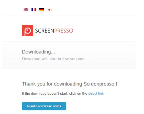 ScreenPressoインストール完了